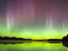 Photo of an aurora as seen in Wisconsin