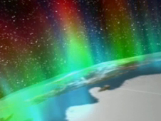Animation screen shot of an aurora