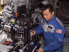 Leroy Chiao on space station