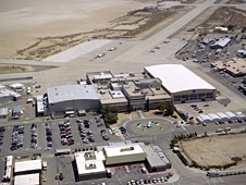 aerial photo of Dryden Flight Research Center