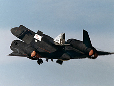 Linear Aerospike SR-71 Experiment (LASRE) during first in-flight cold flow test