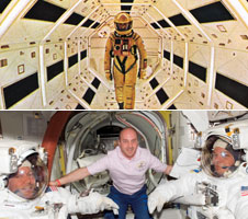 Spacewalk images from 2001 and the International Space Station - movie image courtesy A.M.P.A.S.
