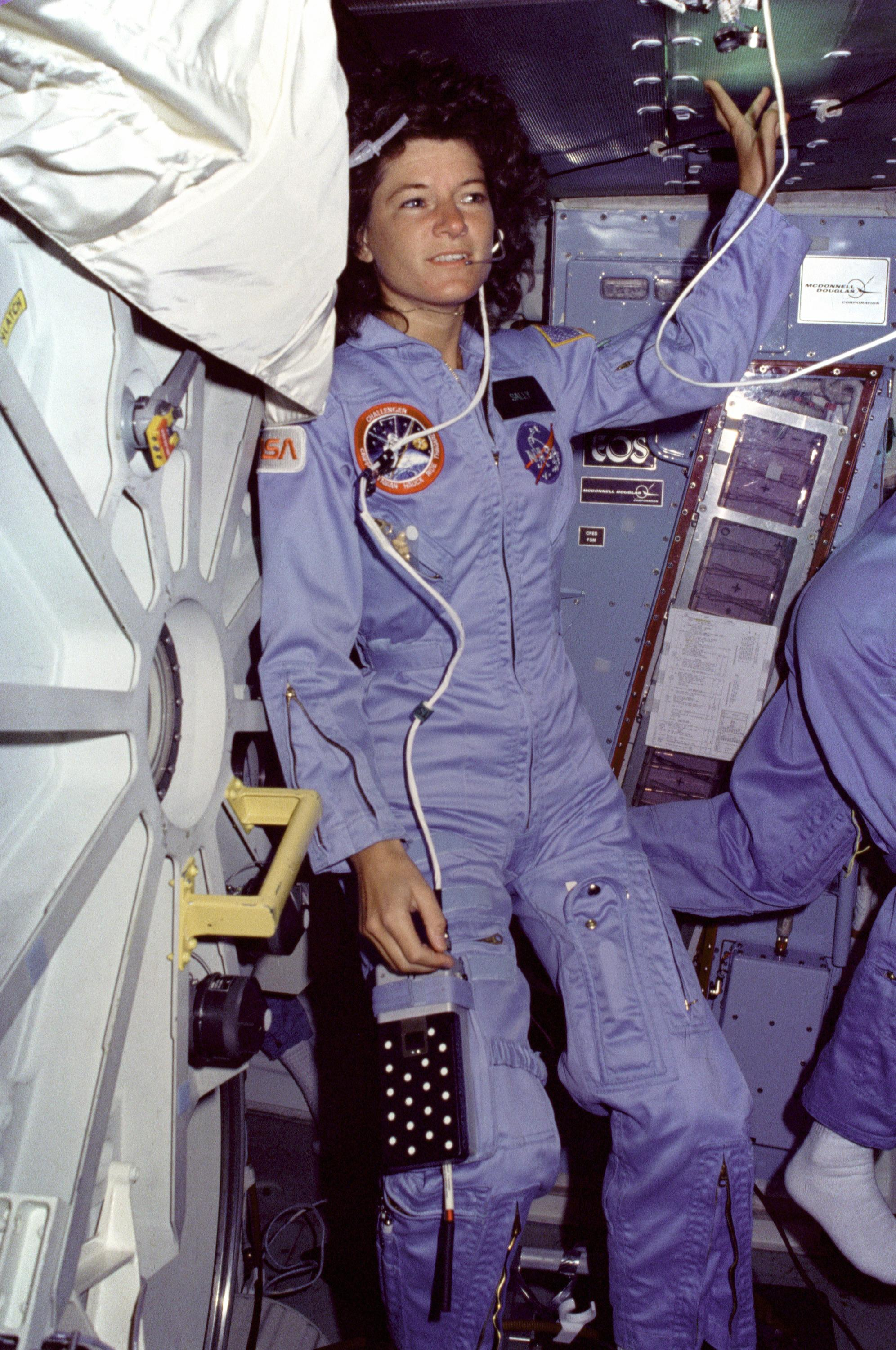 Sally Ride on the Middeck | NASA