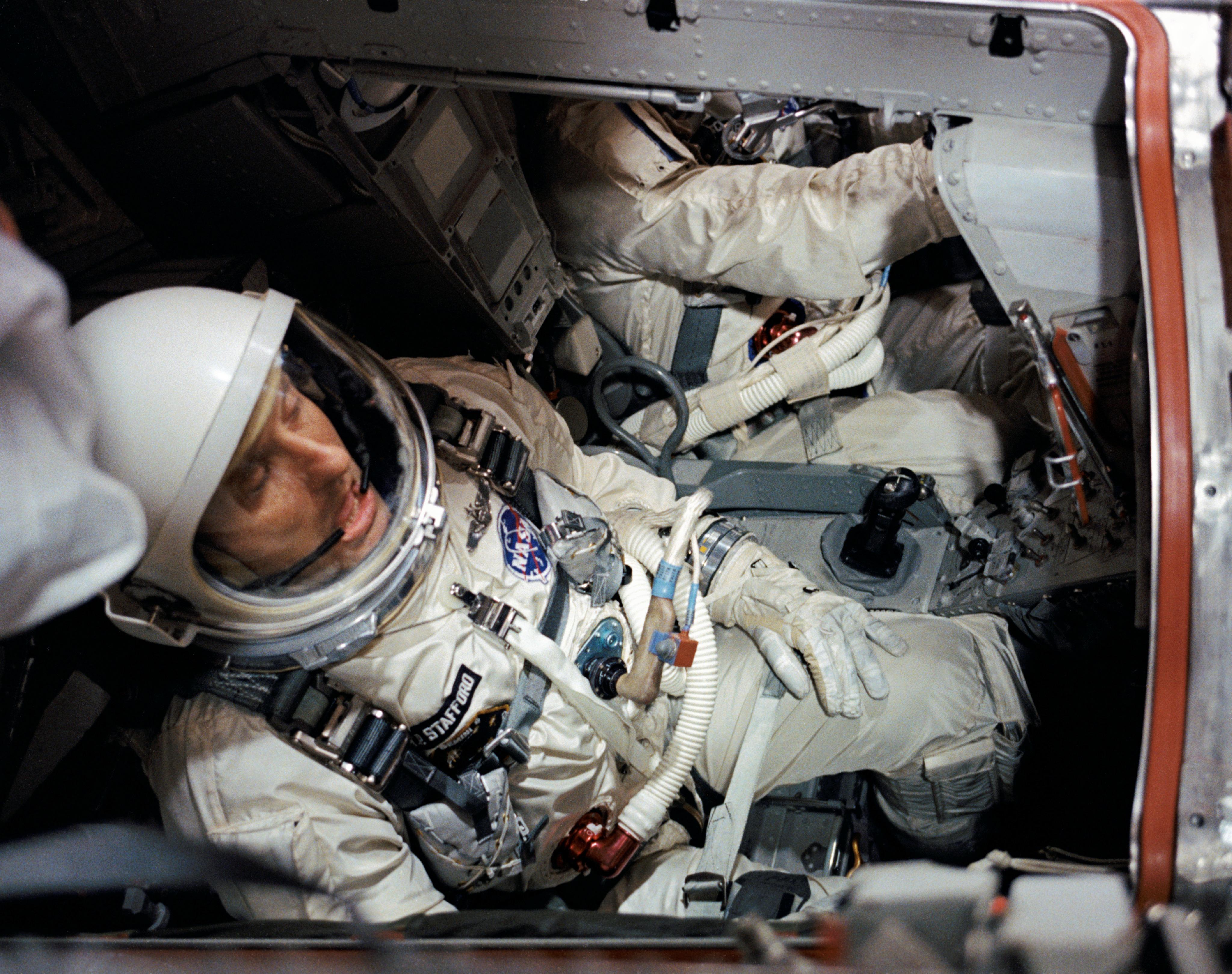 Inside The Gemini VI Spacecraft