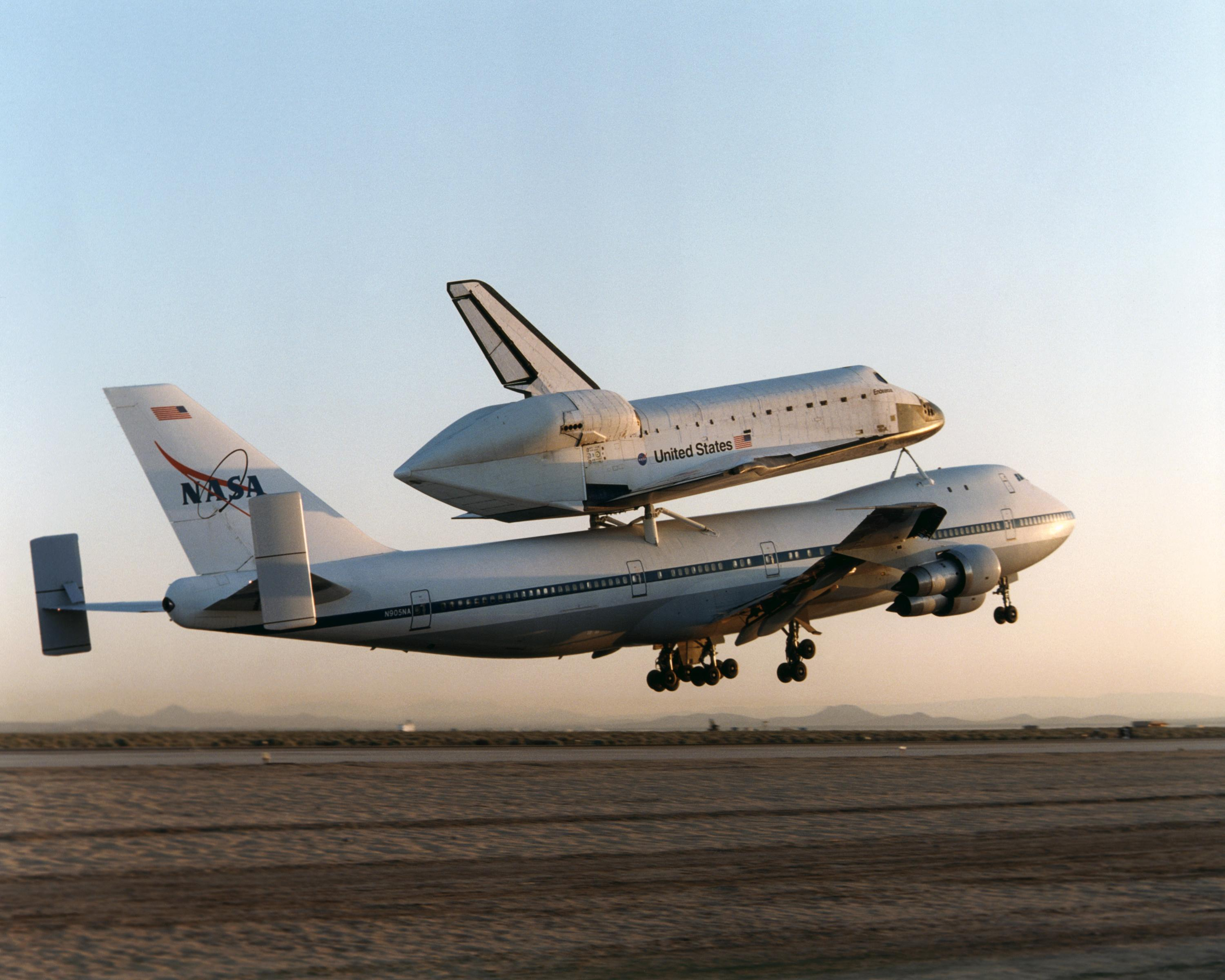 space shuttle launch from 747 - photo #9