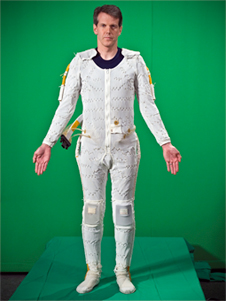 Front view of man wearing the Liquid Cooling and Ventilation Garment