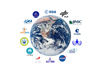 Space Agency logos surround Earth