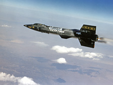 X-15 in flight.