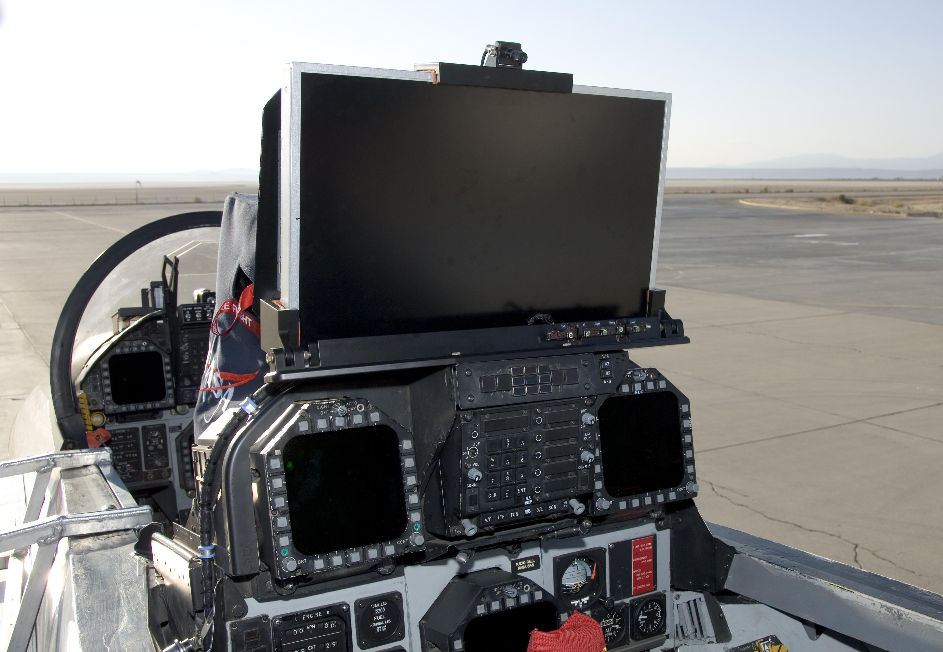 Hd display mounted on rear instrument panel in sra nasa