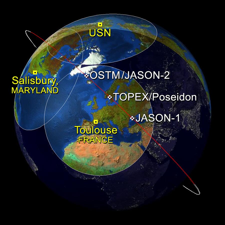 NASA Satellites Capture Sea Surface Heights Around the ...