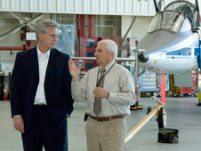 Petersen gives a tour to U.S. Rep. Kevin McCarthy.