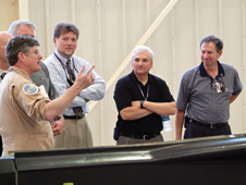 Petersen showing NASA Administrator Michael Griffin around the center.