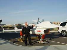 Dryden Center director Kevin Petersen found a HiMAT remotely piloted research aircraft sitting in his parking space.