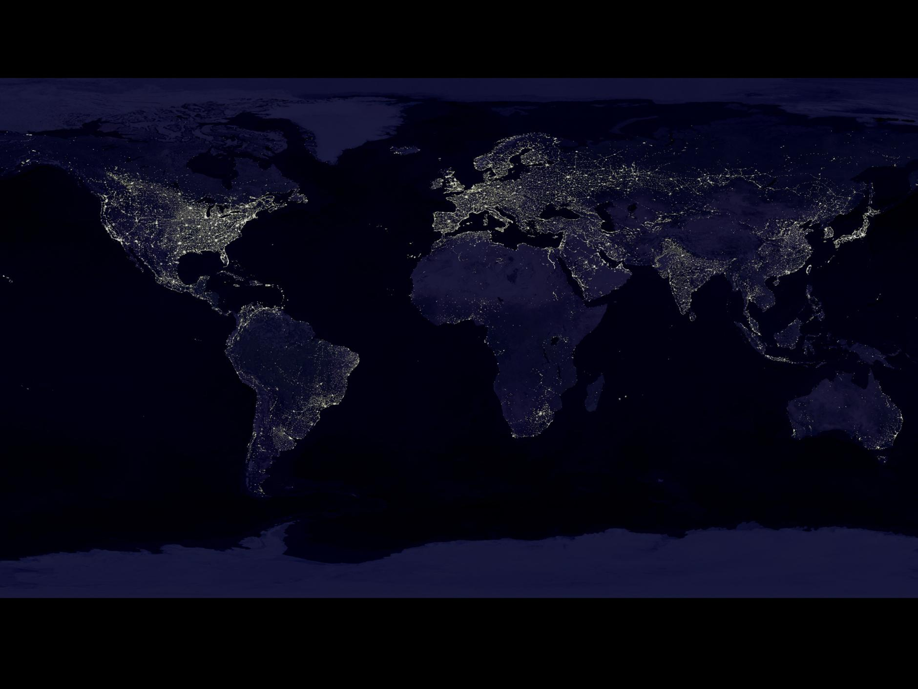Earth At Night Nasa