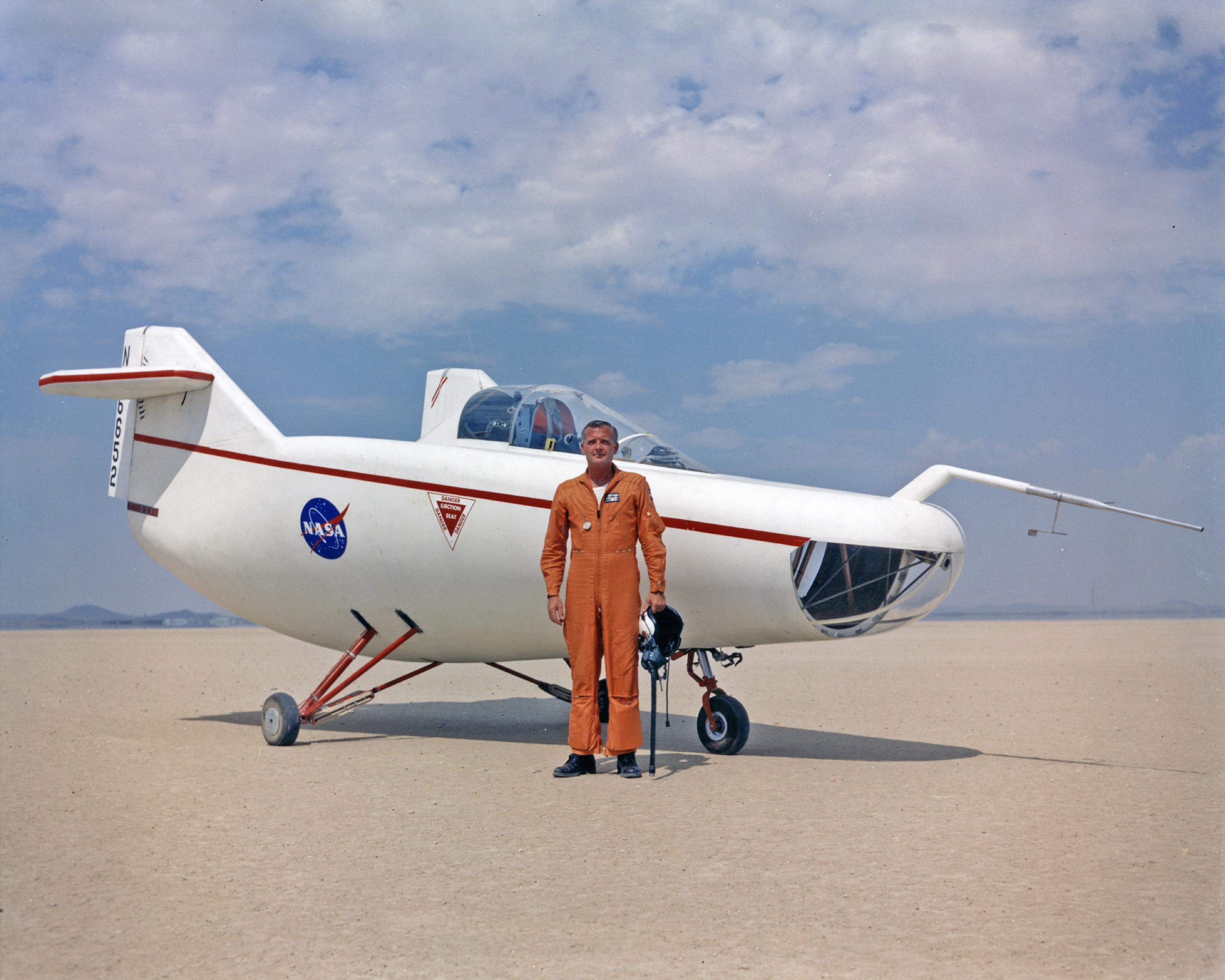 Research Pilot Milt Thompson with M2-F1 Lifting Body   NASA