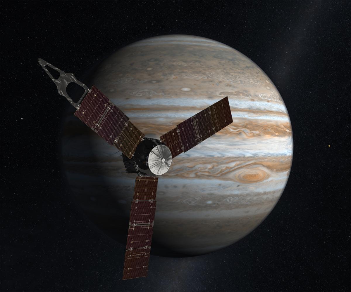 Juno Spacecraft Orbits Jupiter