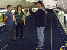 A DC-8 staff member explains how the aircraft is used for science missions.