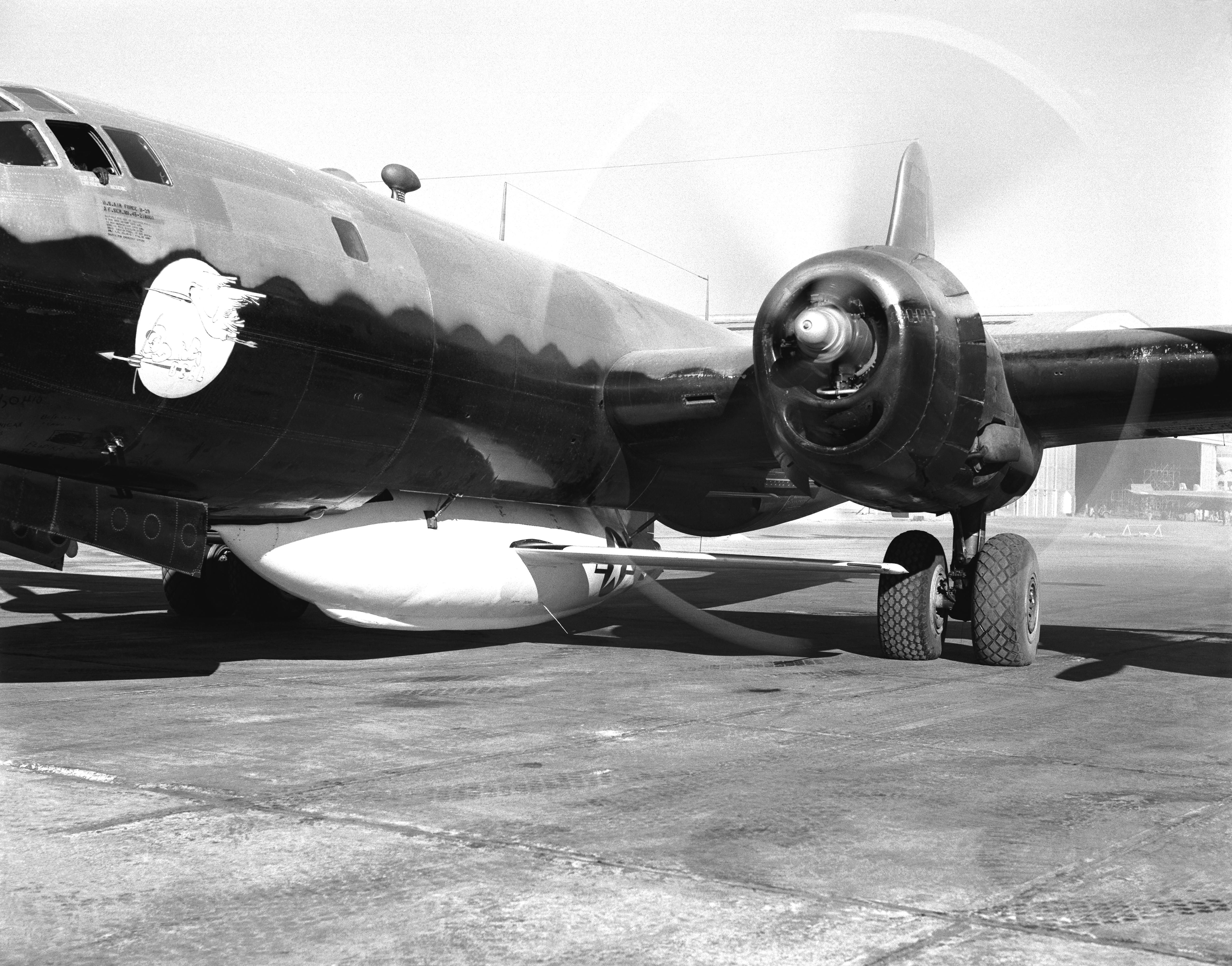 B 29 Superfortress With X 1 2 Mated And Ready For Flight
