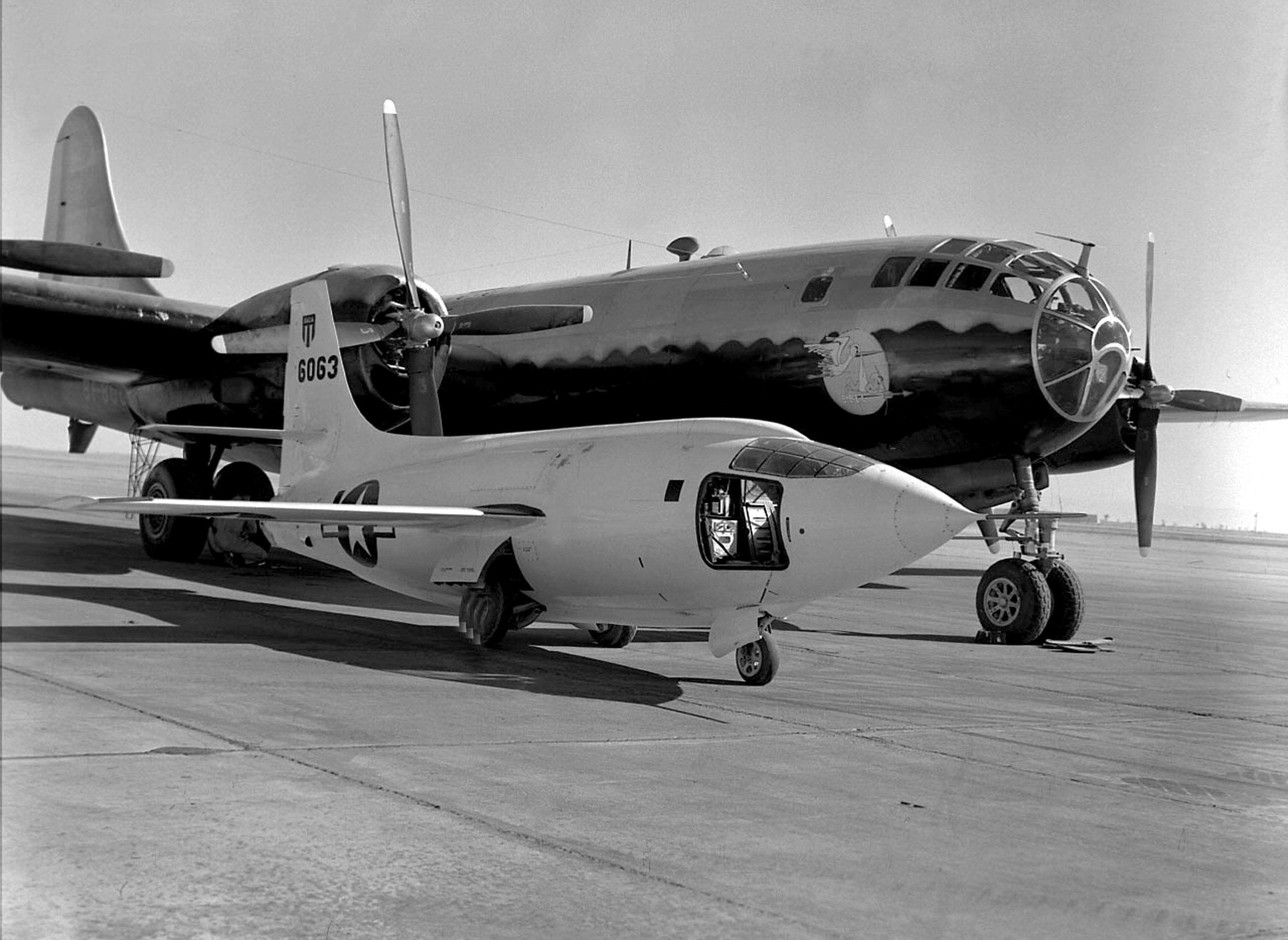 x 1 on the ramp with the b 29 mothership nasa. Black Bedroom Furniture Sets. Home Design Ideas