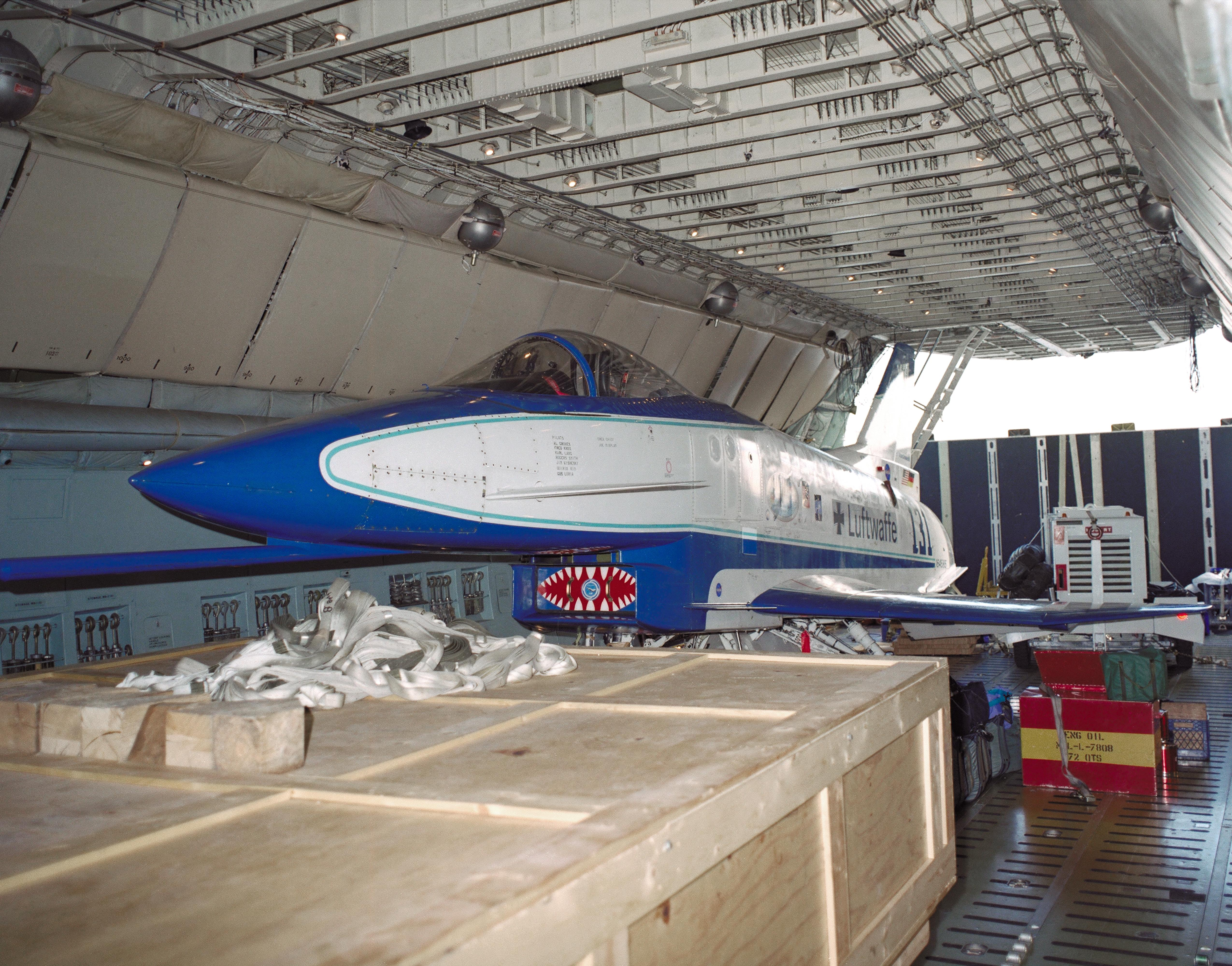 X 31 Secured Inside The Fuselage Of An Air Force Reserve C