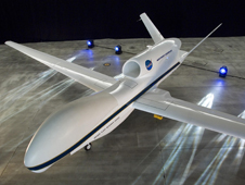 The first of two NASA Global Hawk autonomously operated aircraft is expected to undergo a first flight this summer. The aircraft will be used for environmental science missions requiring its long-endurance, high-altitude capability.