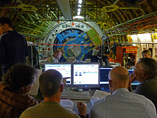 Interior of NASA's SOFIA flying observatory.