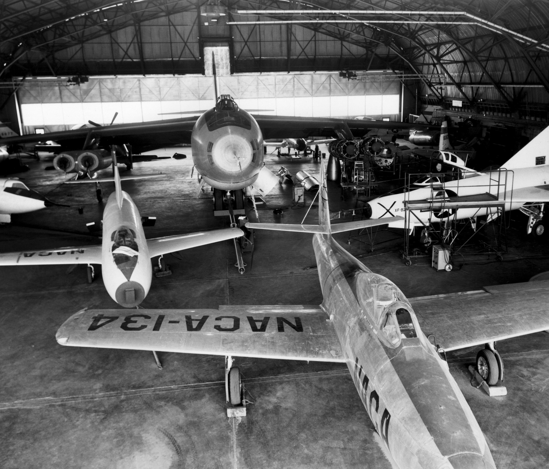 Hangar Shot of NACA Fleet, 1953 | NASA