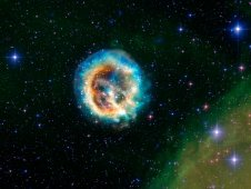 Chandra image of supernova remnant E0102