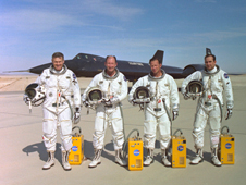 Pictured from left, Ray Young, Fitz Fulton, Don Mallick and Vic Horton comprised the crews of the YF-12.