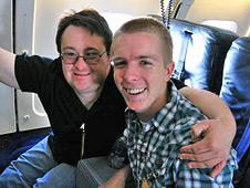 Rafe Day and Daniel Tkacik aboard DC-8