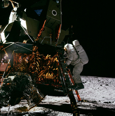 Astronaut Alan Bean and Apollo 12's LM