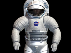 Computer rendering of next generation EVA suit