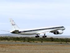 NASA's DC-8 takes off from Chile