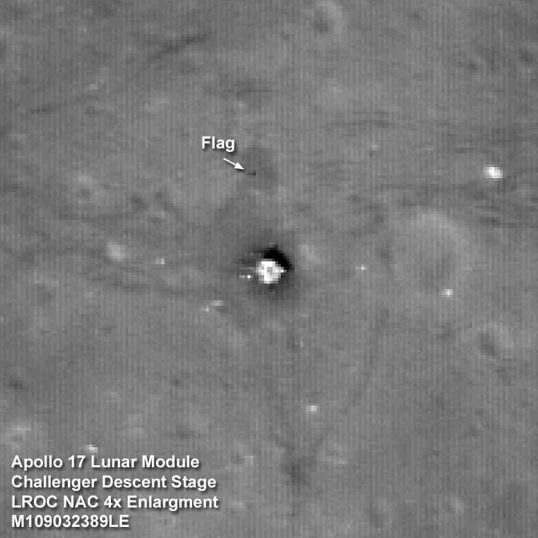 Lunar Reconnaissance Orbiter photo of the Apollo 17 landing site.