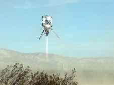 Image of the Xoie Lunar Lander rocket