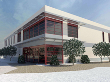 artist's conception of the new Consolidated Information Technology Center that will be built at Dryden.
