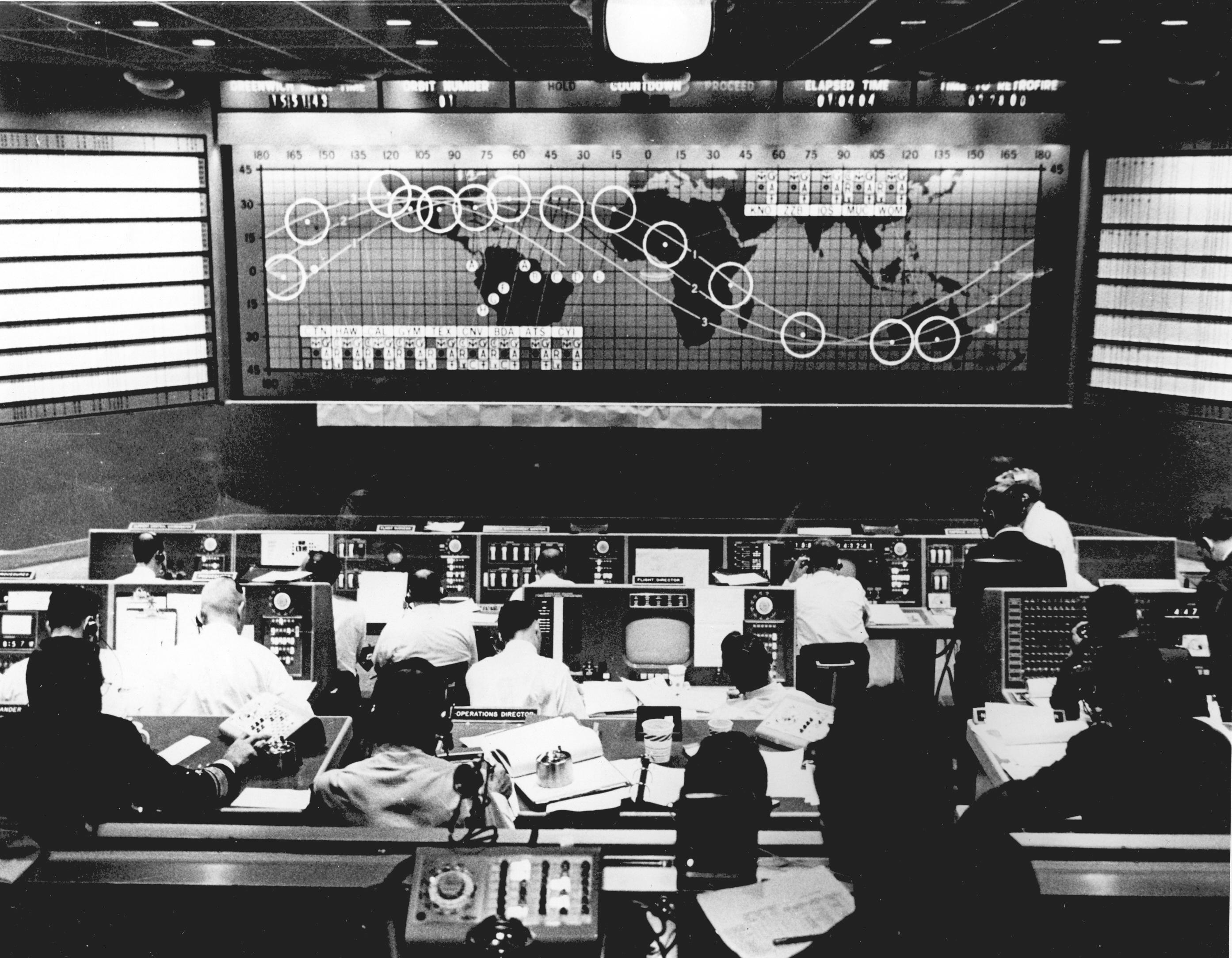 Image result for control room NASA 1960s