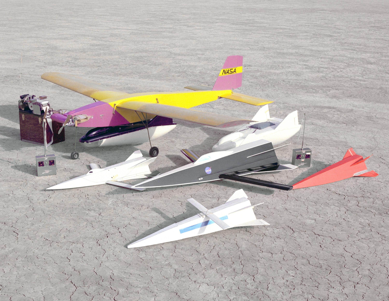 Models on Lakebed with RadioControlled Mothership  NASA