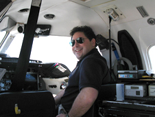 David Klyde, Systems Technology technical director and principal research engineer, is seen here as an evaluation pilot for the Calpsan Learjet II In-Flight Simulator.