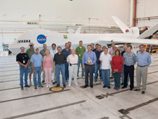 Dryden Ikhana team members recently met to celebrate their roles in a joint effort with Ames Research Center, Moffett Field, Calif., and the U.S. Department of Agriculture Forest Service, the National Interagency Fire Center and the Federal Aviation Administration.