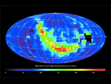 One of two maps which show the entire sky in the emission of neutral hydrogen.