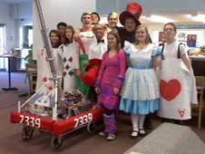 The Robolopes robotics team from Antelope Valley High School in Lancaster, Calif., unveiled their robot entry for the 2010 FIRST robotics competition season Feb. 17