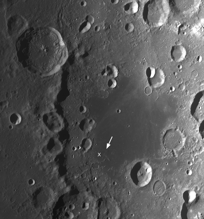WAC mosaic showing most of Apollo Basin's northern, southern, and western inner ring