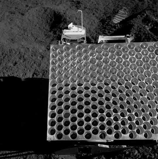 Portion of the Apollo 15 lunar laser ranging retroreflector array