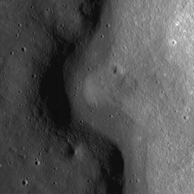 Lava channel on the Moon