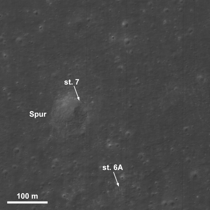 LRO image of location of Genesis Rock