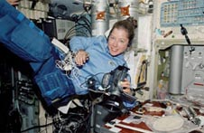 Astronaut Pamela A. Melroy in work clothes
