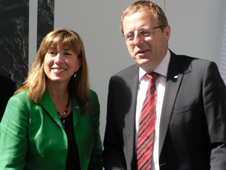 NASA Deputy Administrator Lori Garver and German Aerospace Center (DLR) Executive Board Chairman Johann-Dietrich Wörner