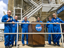 STS-134 Shuttle Crew Visits Stennis