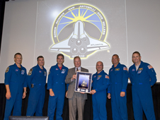STS-132 Shuttle Crew Visits Stennis